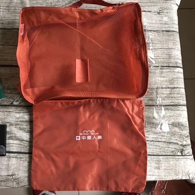 旅遊必備收納袋 旅行袋 - 尼龍材質輕巧 旅行好物 輕裝旅行 兩件