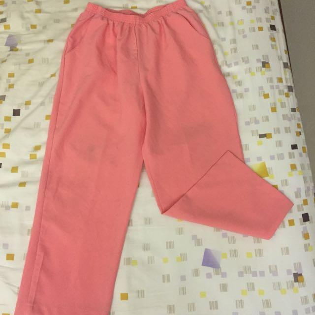 古着 vintage 粉紅 寬褲