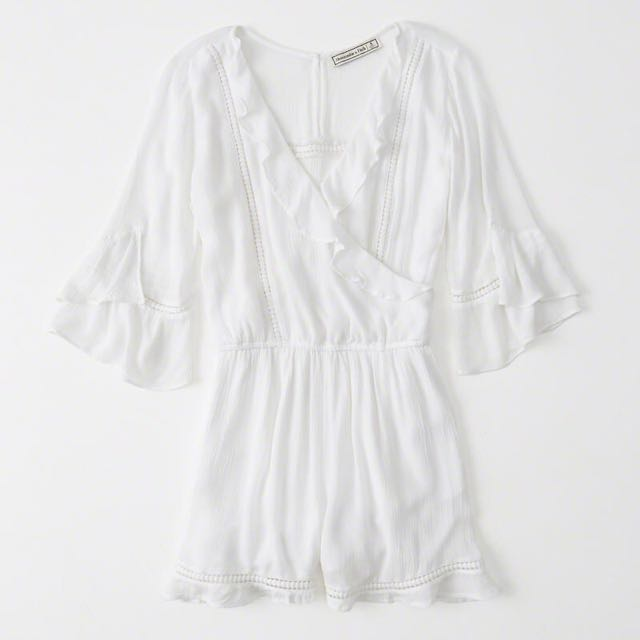 aa4551ce4588 Abercrombie   Fitch Ruffle Romper in White