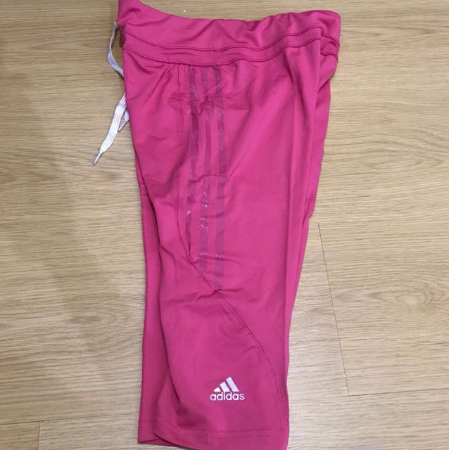 Adidas Dri-Fit Capri Tights - Pink (Medium, Large)