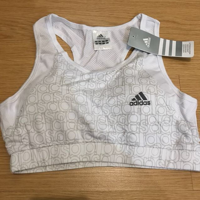 Adidas Sports Bra with Pads - White (Large)
