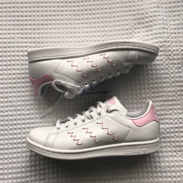 Adidas Stan smith white and pink shoes