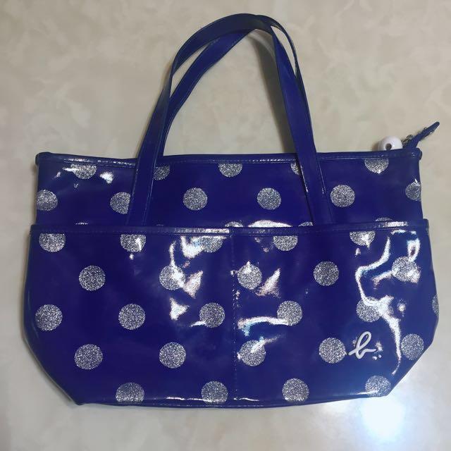 Agnesb 寶藍 包包/漆皮亮面款
