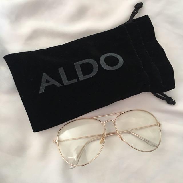 cb72c346360da ALDO Retro Aviator Clear Glasses