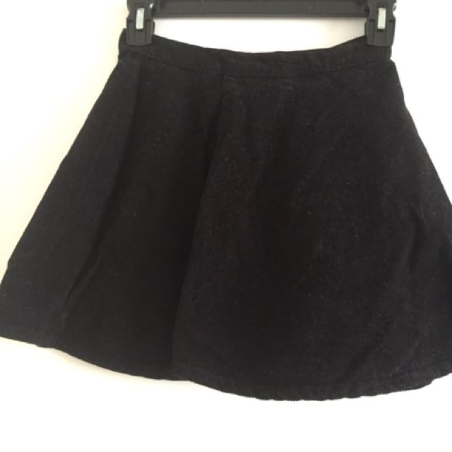American apparel cord skirt