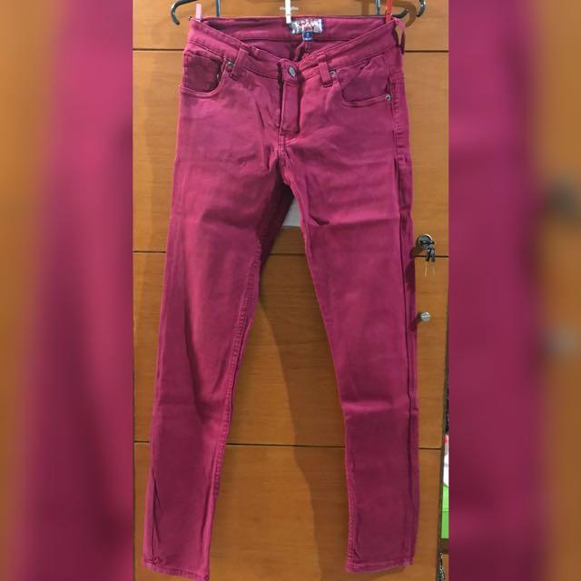 American Jeans maroon
