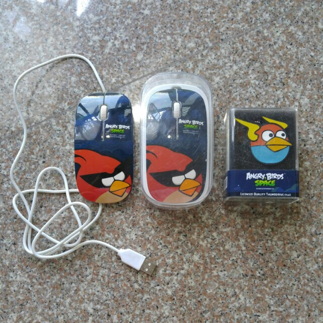 Angry birds space 3d optical mouse 4gb thumbdrive electronics photo photo voltagebd Images