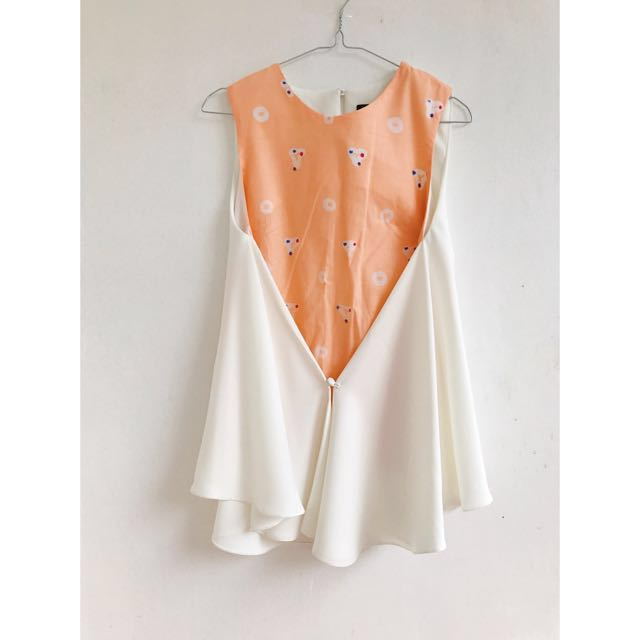 Anynome Peach Batik Top