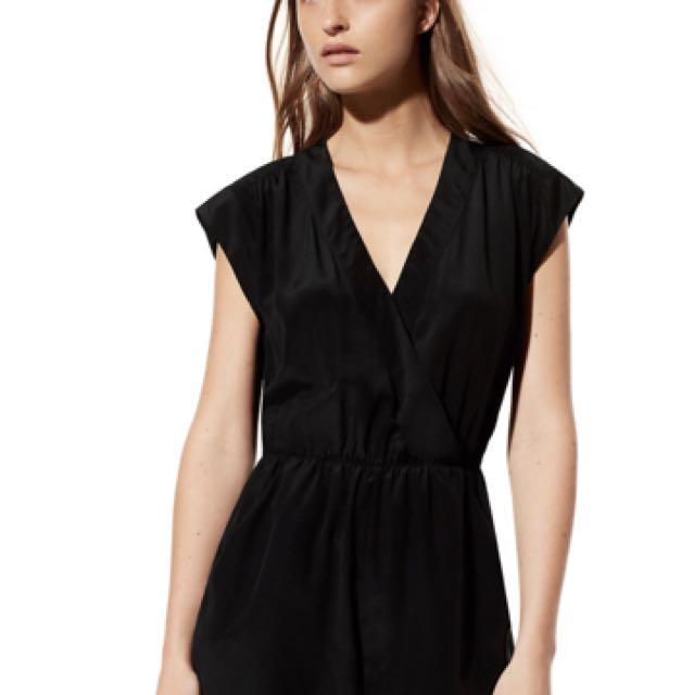 Aritzia Corbett Romper in Black Size XS NWT