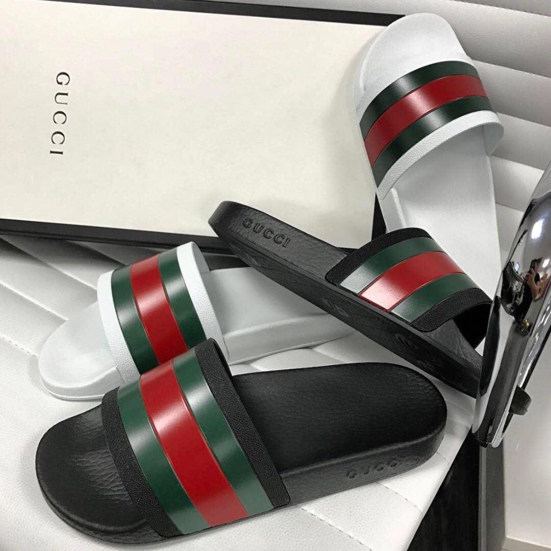 a3d10f4a9b2e AUTHENTIC  Gucci Pursuit Stripes Slides