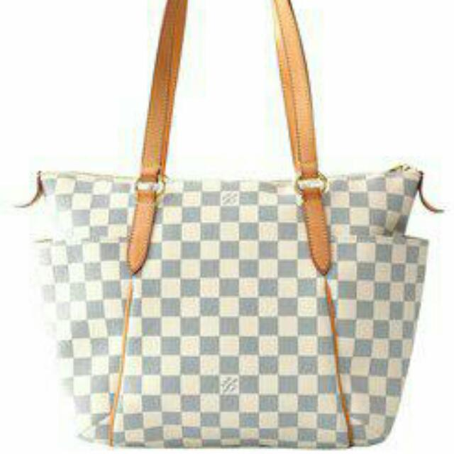 13f01e27a045 AUTHENTIC LOUIS VUITTON TOTALLY IN DAMIER AZUR - PM SIZE