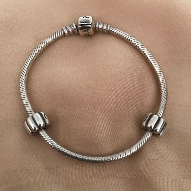Authentic Pandora Bracelet With Two Clips Luxury Accessories On