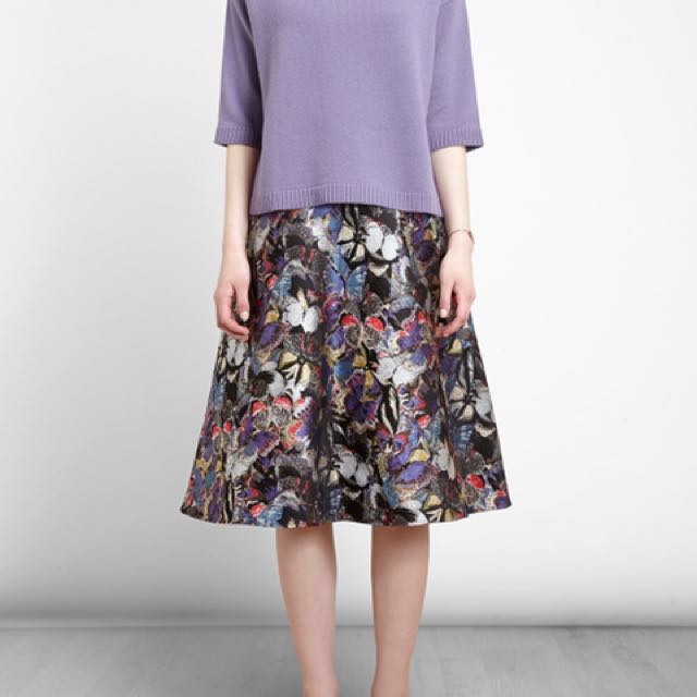 Authentic VALENTINO Butterfly Jacquard Skirt