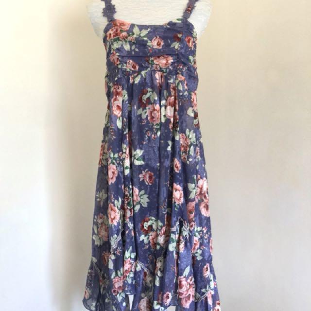 Axes Femme Mori Kei Floral Dress