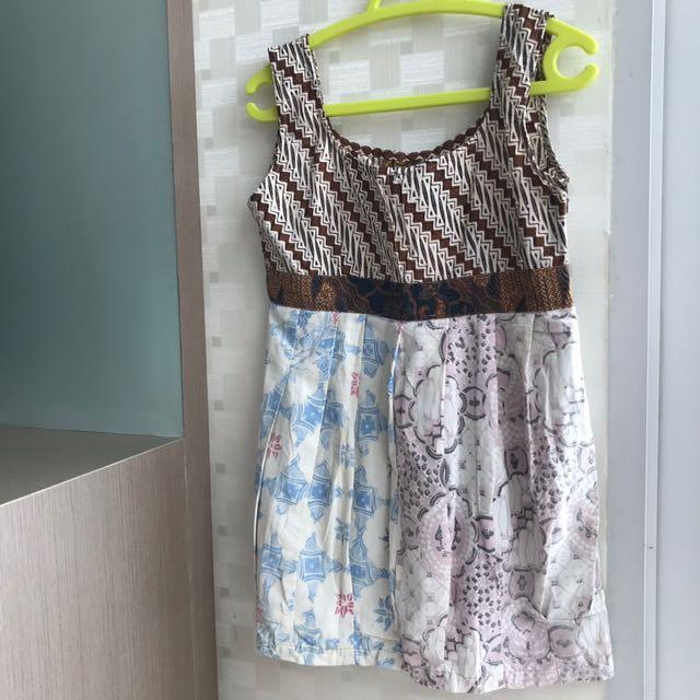 Baby Doll/Dress Pendek Batik