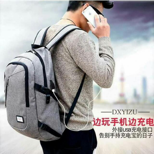 Backpack With Free Powerbank
