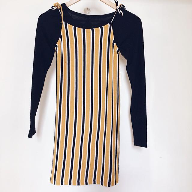 Bershka stripes dress