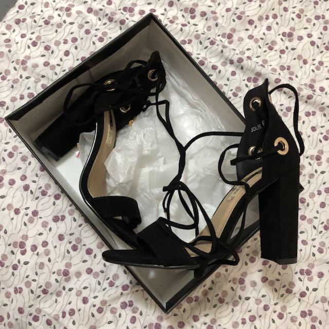 Billini black heels size 6