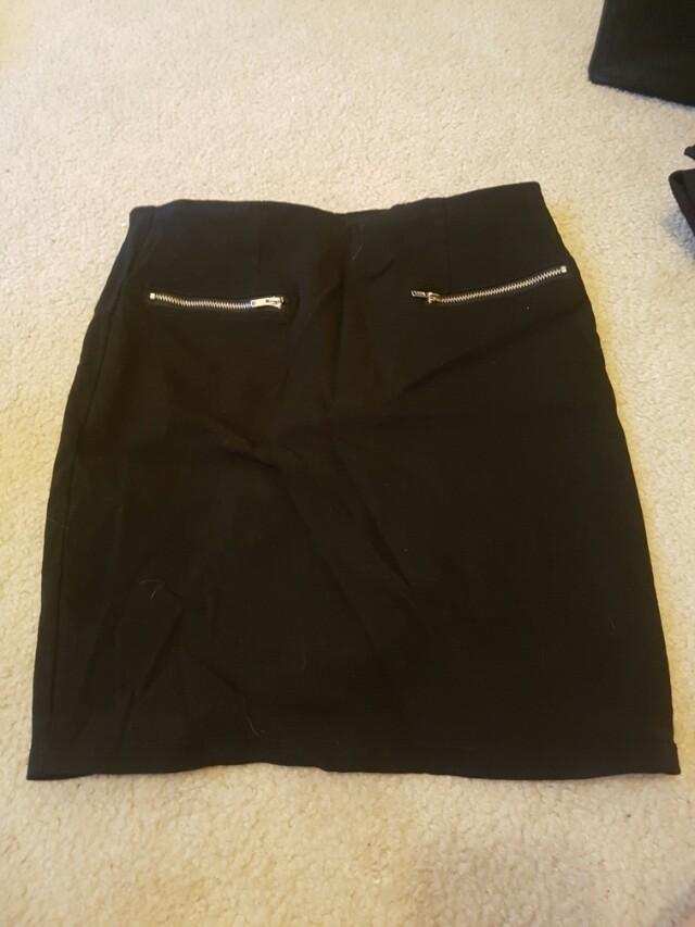 Black skirt - needs an iron