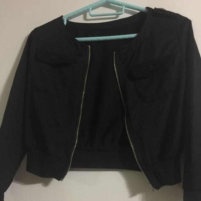 Black thin blazer