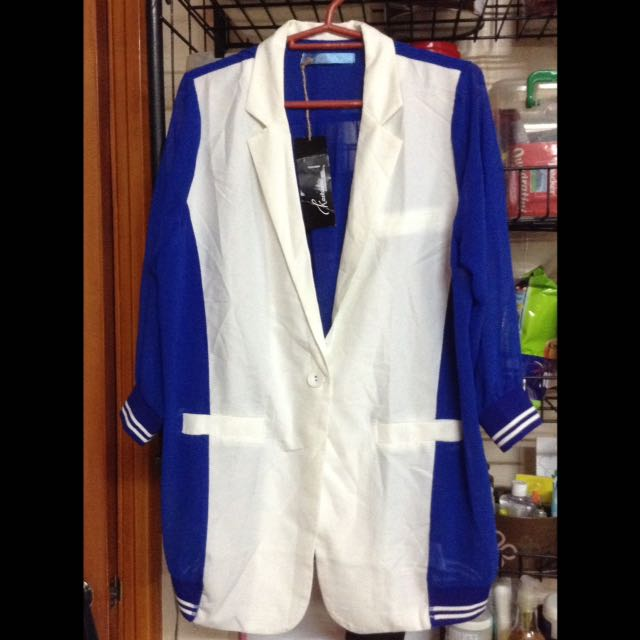 Blazer blue & white