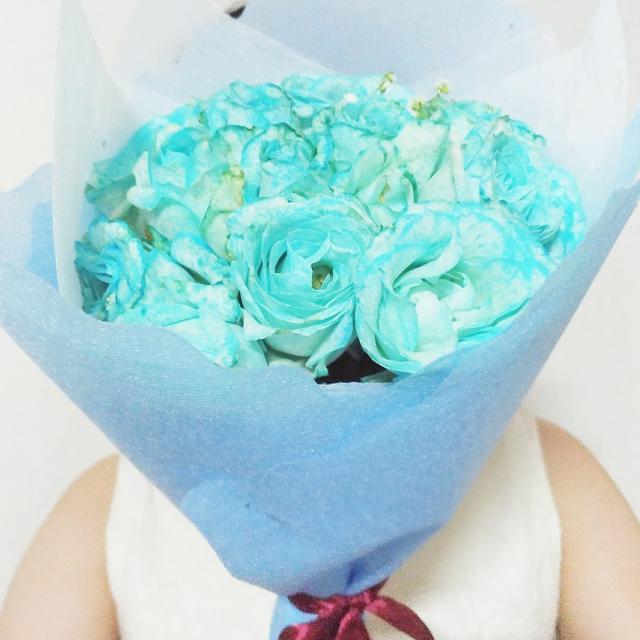 Blue Rose Buket Mawar Biru 20 Tangkai