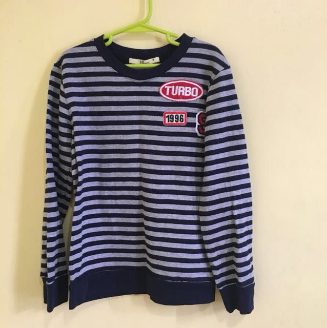BNEW JUSTEES Long sleeves stripes for boys (7-8yo)