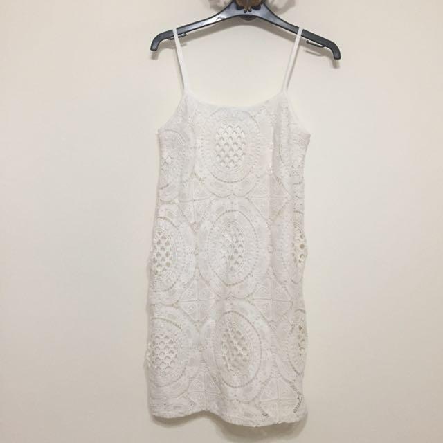43fa7a889b5c Boohoo petite white crochet lace dress, Women's Fashion, Clothes, Dresses &  Skirts on Carousell