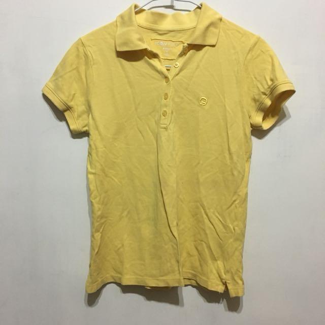 【bossini】黃色polo衫s號