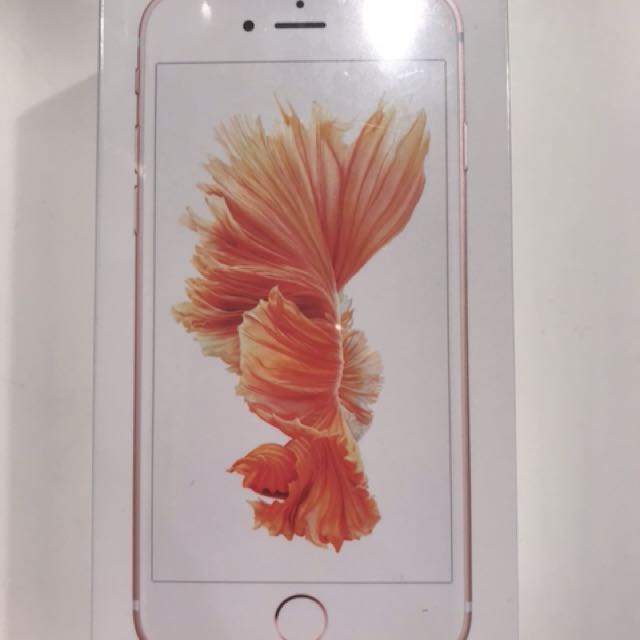 Brand new iPhone 6s in rose gold 32 GB with proof of purchase full 1 year warranty with Apple
