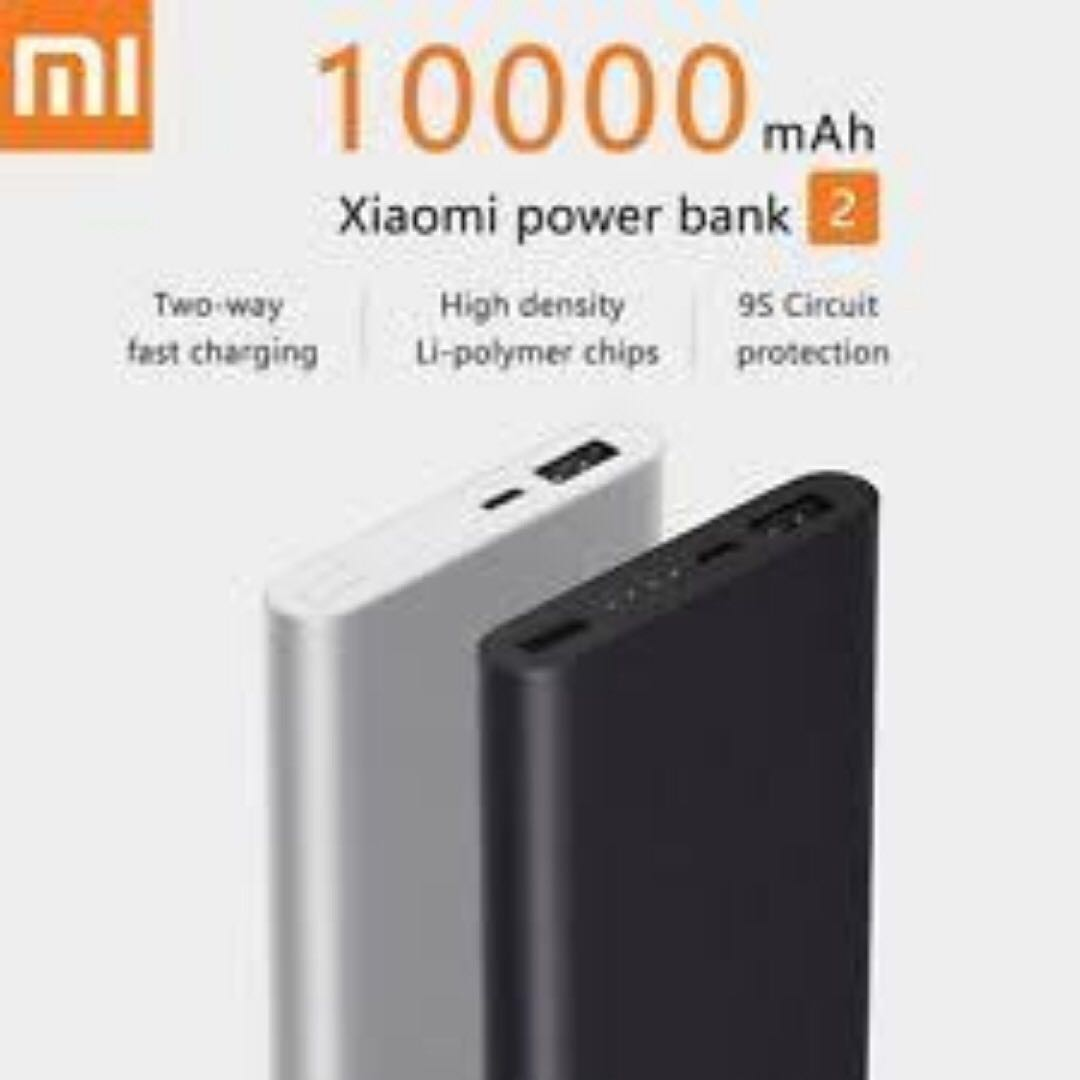 Xiaomi Mi Power Bank 2 10000mah Fast Charge Original Gratis Silicone Case Powerbank 5000 Mah Hitam Source Brand New