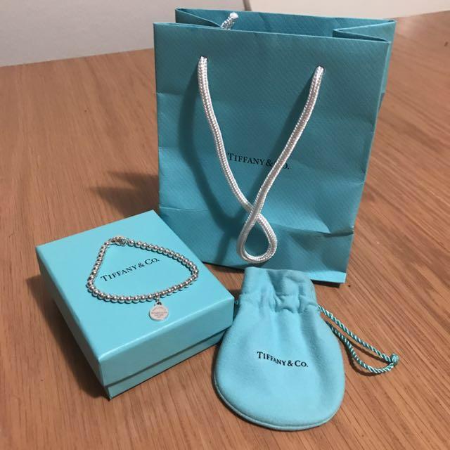 BRAND NEW Tiffany and Co Bracelet Return to Tiffany Bead Bracelet Sterling Silver