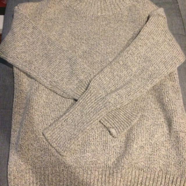 Brown winter sweater