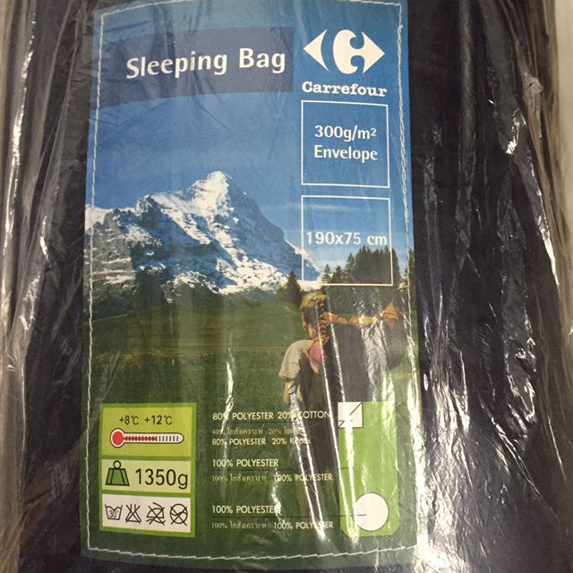 brand new 1a13c f1709 Carrefour Sleeping Bag, Sports, Sports Apparel on Carousell