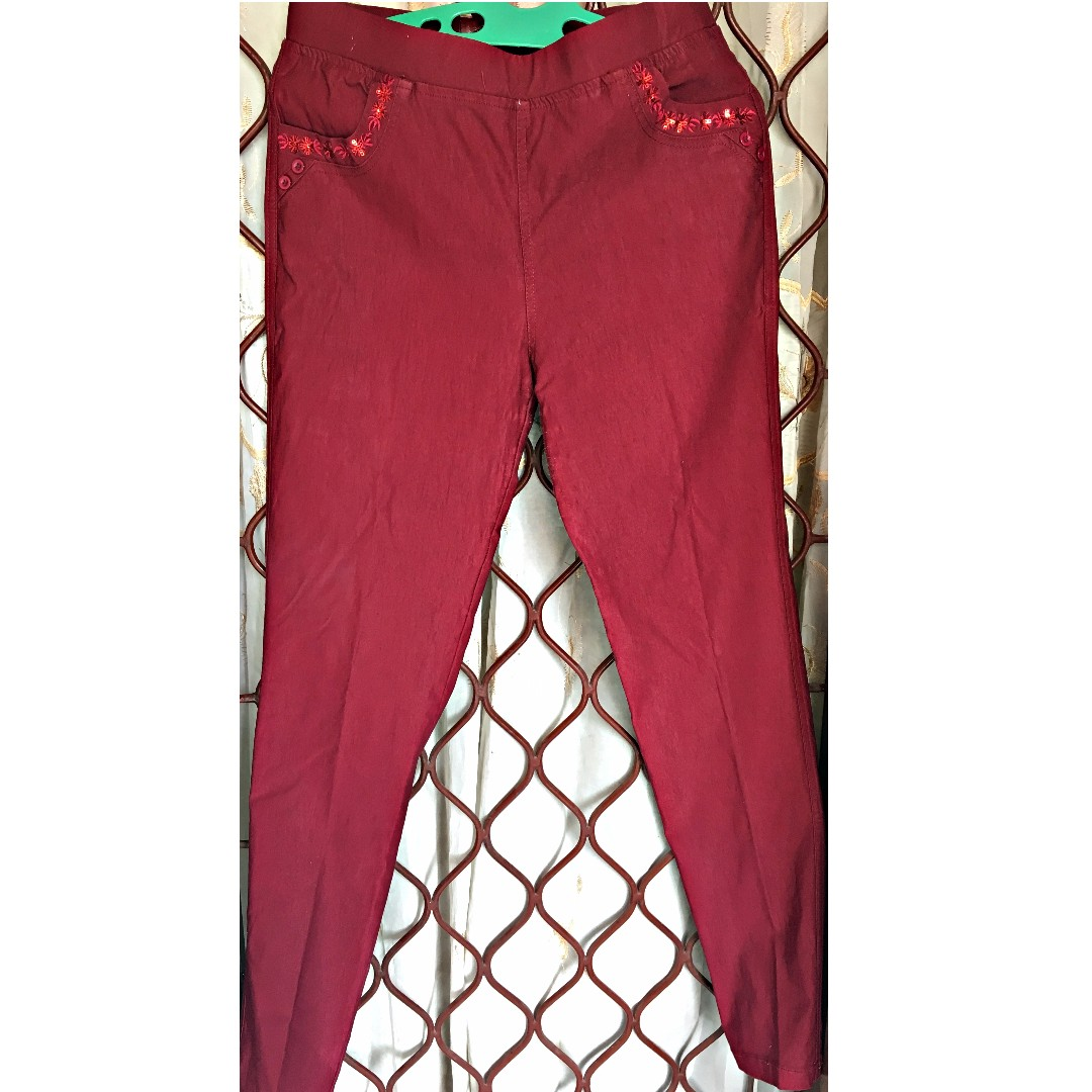Celana Strech warna Maroon