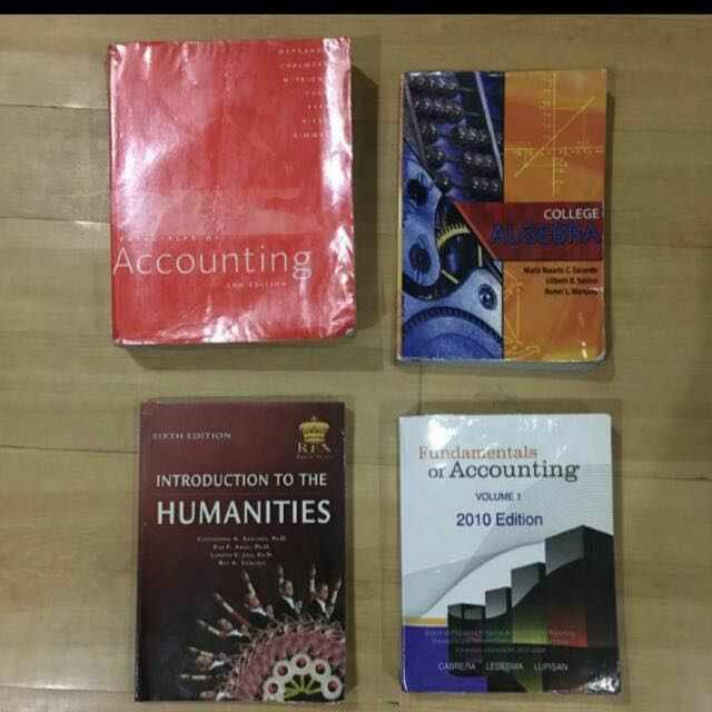 College Books (Accounting, Algebra And Humanities)