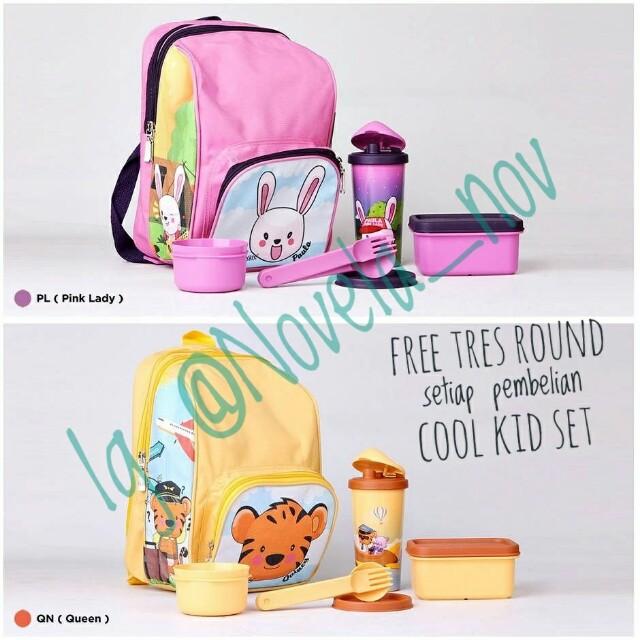 75b85945421 Cool kidz set twin tulipware paket bekal anak free tres round, Kitchen &  Appliances on Carousell