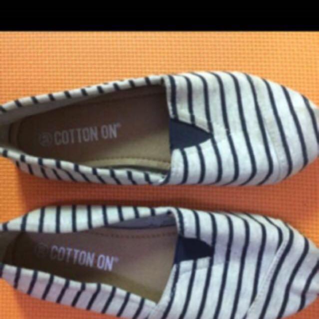 Cotton on flatshoes