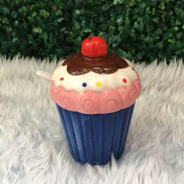Cupcake Ceramic Condiments Container