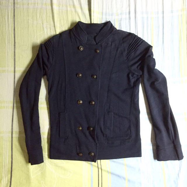 Dark Blue Double Breasted Jacket Lacoste Tommy Ralph Lauren Nautica Burberry Penguin