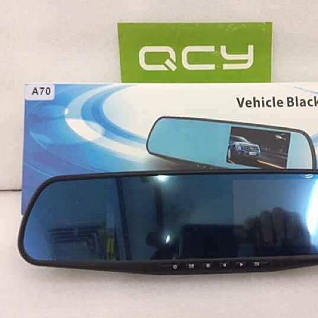 Dash Cam Video Recorder Dual Lens Rear-view Mirror Car Camera DVR