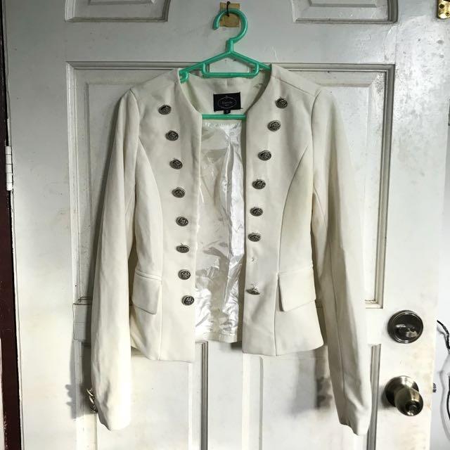 Dirty white coat