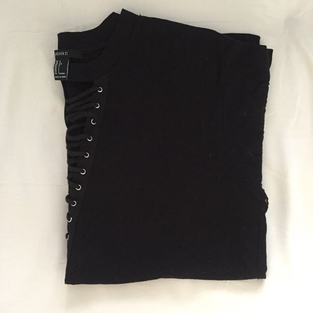Forever 21 Lace Up T-Shirt