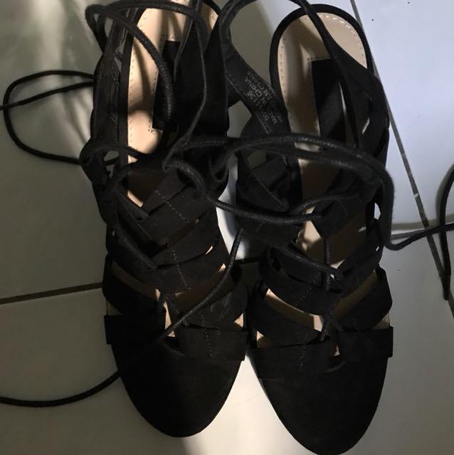 Forever 21 Velvet Sandals