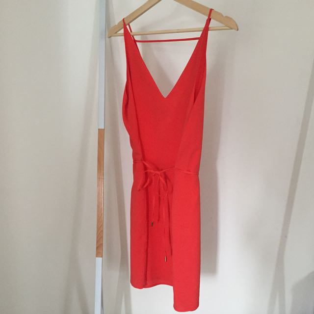 Forever New Coral Red Cocktail Dress