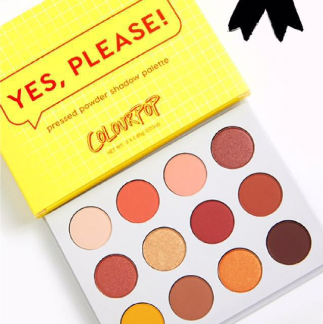 Free Post: New Yes Please Colourpop Eyeshadow Palette