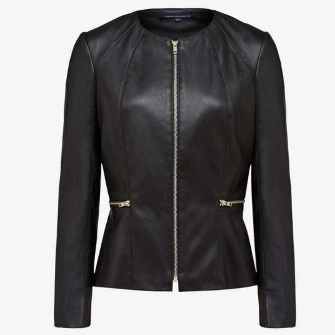 French Connection Leather (PU) Jacket size 8
