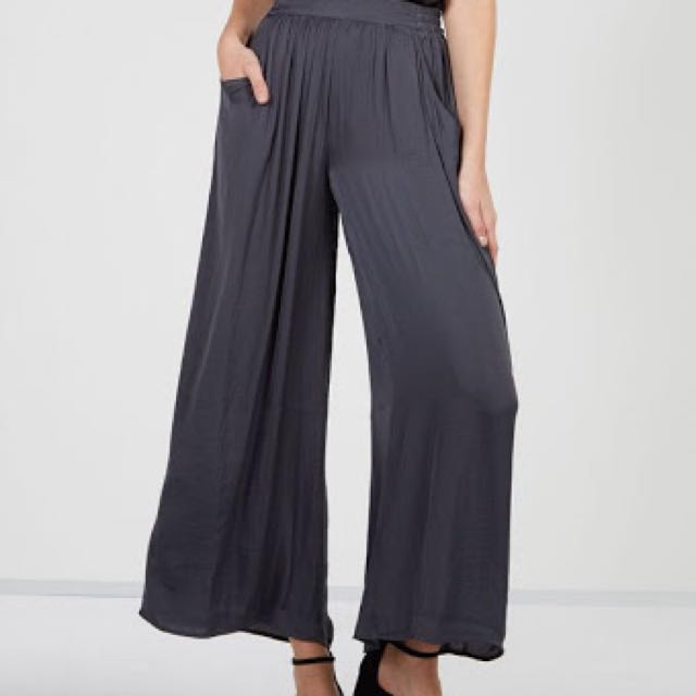 Glassons wide flow pants in black