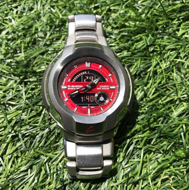 c5cb78611f2 G-Shock Vintage Stainless Steel Strap Watch