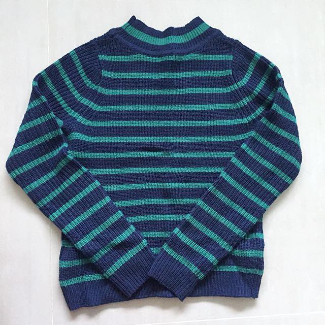 GU微高領毛衣